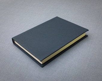 Steel Blue Leather Notebook