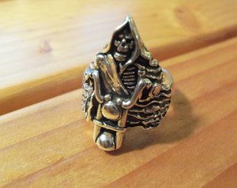 Grim Reaper On Motorcycle
