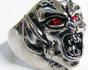 Demon Monster Ring With Red Eyes