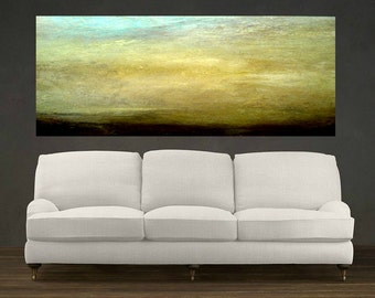 Mist over Mountain, Extra Large Abstract Oil Painting Mountain Sky Colorful Artwork, Wall Art, Large Wall Decor, Home Decor, Office Decor