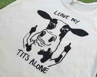 Women's vests! Leave My Tits Alone vegan design