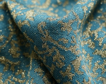 5af80d34c76 JERSEY FABRIC - Lurex Ornate Design - 2 Way Stretch - Available in  Turquoise, Grey and Pink
