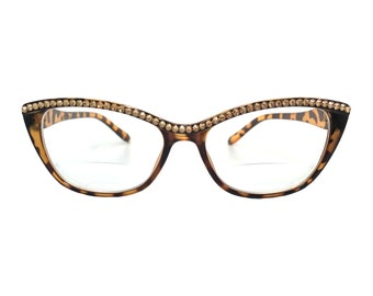 44af1f92e8d Bifocal Reading Glasses with Swarovski Crystal Rhinestones in strengths + 1.00