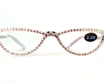 0c00ed1936 Small Reading Glasses - I See Clearly Now (Swarovski Crystals used on  Eyewear Frames)