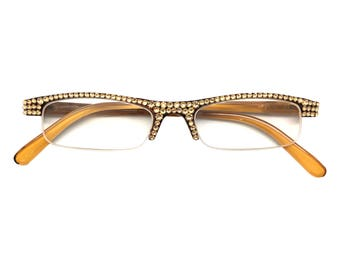 94700e5188 Half Pint - Topaz (Reading Glasses with Rhinestone Crystal Bling)