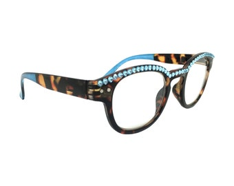00335da4d02 Classee - Blue - Swarovski Crystal Rhinestone Bling Reading Glasses