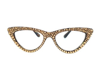 966e282a60 Iconic - Topaz Cateye Reading Glasses with Swarovski Crystal Bling  Strengths in 1.25