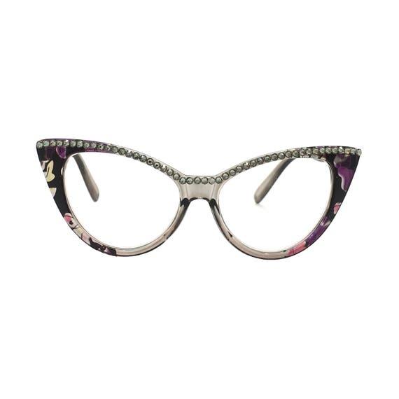 f042b6c9374a Cat Lady Black Diamond Cat Eye Reading Glasses with