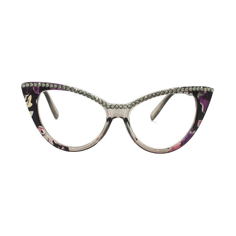 335929b979 Cat Lady Black Diamond Cat Eye Reading Glasses with