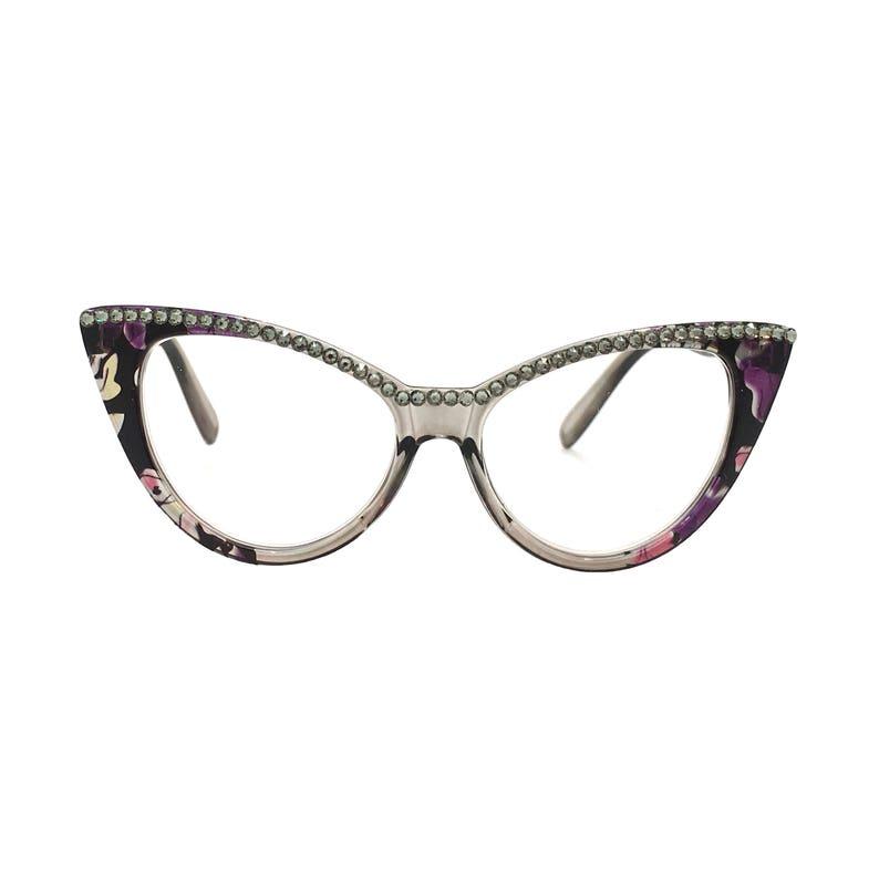 685daf7a072f Cat Lady Black Diamond Cat Eye Reading Glasses with