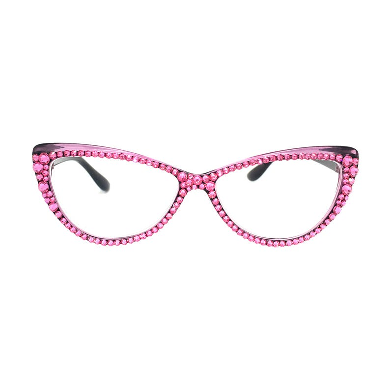 f436274509 Cat Krazy - Purple (Cateye Reading Glasses with Swarovski stones)