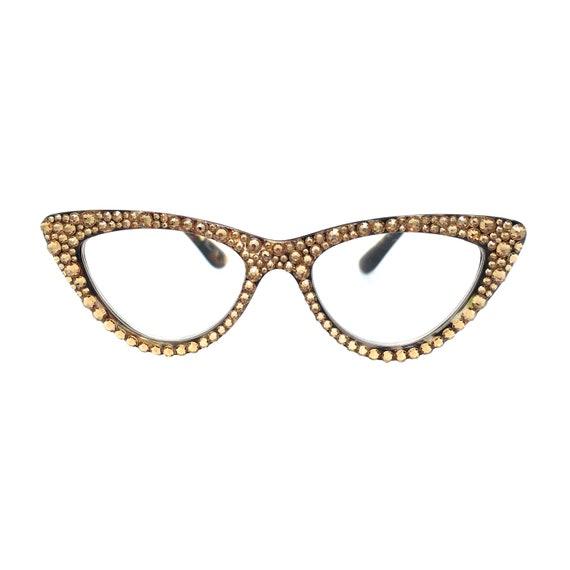c0c3e06ae2 Iconic Topaz Cateye Reading Glasses with Swarovski Crystal