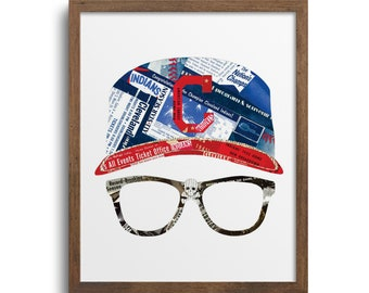 Major League - Wild Thing - Ricky Vaughn Poster | Notecards - Cleveland Indians Wall Art, Cleveland Indians Baseball, Cleveland Guardians