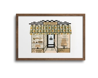 Cleveland Hough Bakery Prints | Notecards - Hough Bakery Poster, Cleveland Art Print, Cleveland Wall Art, Hough Bakery Cards