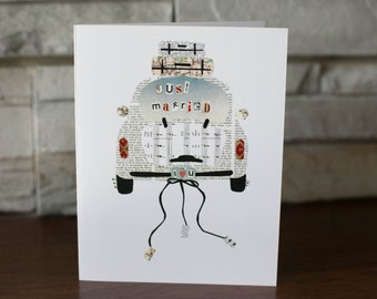 Just Married Car Note Cards