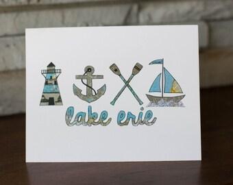 Lake Erie Cleveland Ohio Note Cards