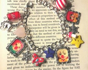 Circus clown charm bracelet