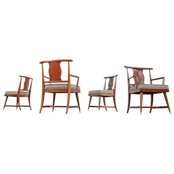 Peachy T H Robsjohn Gibbings Style Asian Modern Chinese Influence Dining Chairs Spiritservingveterans Wood Chair Design Ideas Spiritservingveteransorg