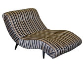 Vintage Adrian Pearsall Mid Century Modern Scoop Wave Chaise Lounge Chair