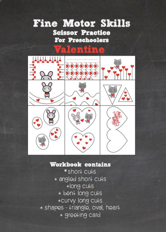 Printable Cutting Worksheets For Preschoolers Cutting Skills Etsy