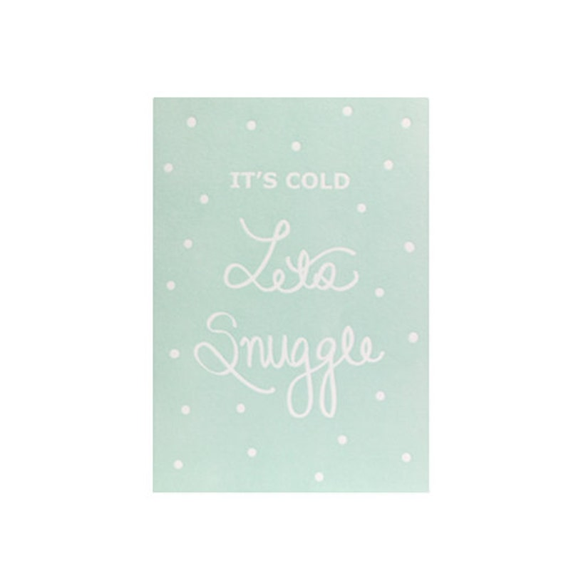 Snuggle Letterpress Winter Card image 0