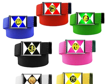 Power Ranger Belt Pack for Red, Blue, Pink, Green, White, Yellow and Black Ranger