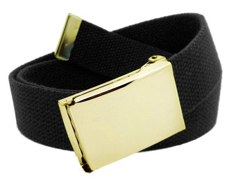Boys Team Instinct Flip Top Military Belt Buckle with Canvas Web Belt