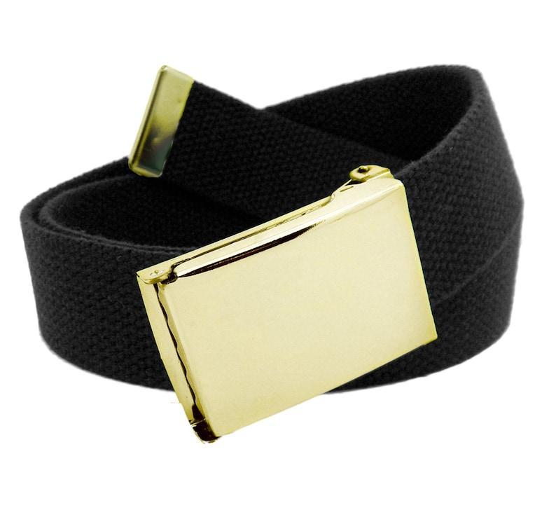 c55c2f1856e57 Military Flip Top Gold Belt Buckle with Web belt | Etsy