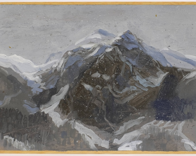 Featured listing image: The Alps.  Painting by Juanma Pérez. Oil on plywood.