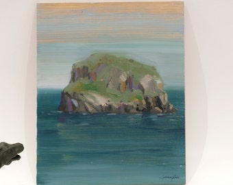 Small Island. Original artwor on wood by Juanma Pérez