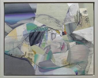 Man Ray Tribute. Original oil painting  by Juanma Pérez. 25 x 31,8 inch.