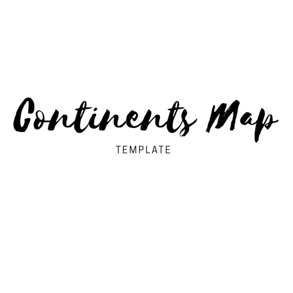 pdf continents template etsy