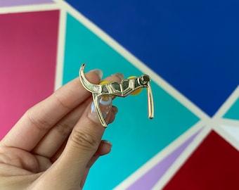 Sylvie Headpiece Loki Inspired Enamel Pin