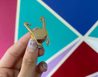 Loki Headpiece Inspired Enamel Pin
