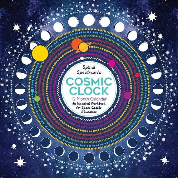 2019 Cosmic Clock 12 Month Astrology Moon Calendar Etsy