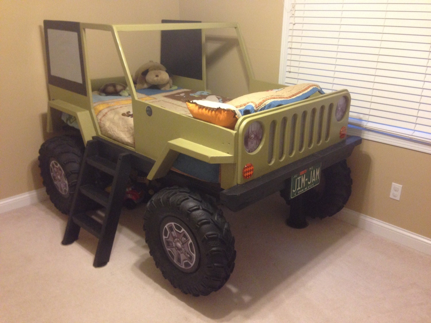 Jeep Bed Plans Twin Size Car Bed | Etsy