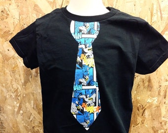 Batman, Tie, Super Hero Shirt.