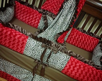 Cheetah, Crib Set. You design. Several Colors Available.