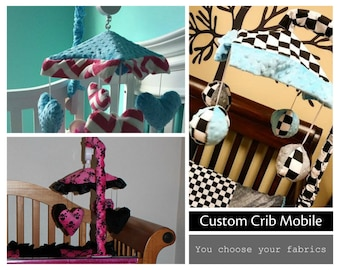 Crib Mobile. Custom your own. You choose fabric.