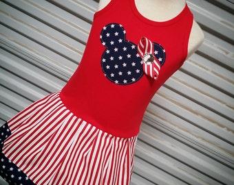 Patriotic, Minnie Mouse Dress