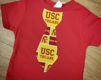 USC Trojans, Tie Shirt. All NFL and College Teams Available.