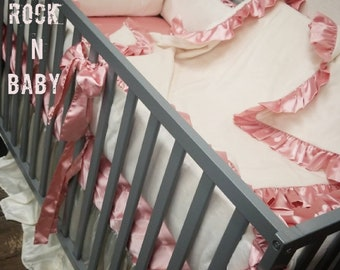 Ivory baby bedding. Baby bedding. Crib bedding.
