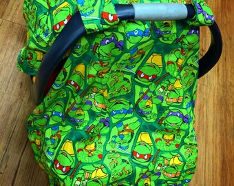 Super Hero, Turtle, infant car seat canopy tent