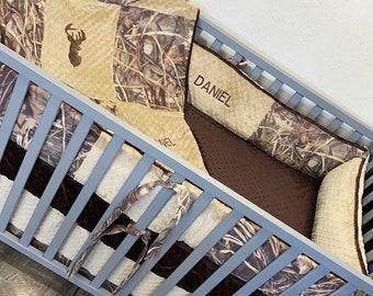 Baby boy crib bedding. Camo baby bedding. Max 4 baby bedding. Camo nursery. Hunters nursery. Nursery bedding. Camo baby bedding.