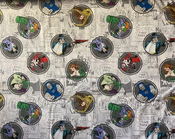 DC Comics cotton fabric. Poison Ivy cotton fabric. Cotton fabric. Face mask fabric. DC villains