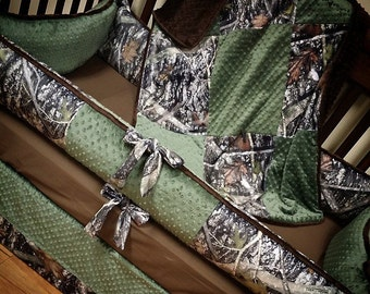 True Timber, Camo, Hunter , Crib Set. You design. Several Colors Available.