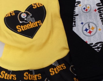 Pittsburgh Steelers, Dress and Tie Shirt. Sibling Set. All NFL and College Teams Available.