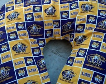 Nursing Pillow Cover. Fits Boppy Pillow. LSU boppy cover.