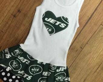 New York Jetts Dress. Jetts dress. Jetts girl. Football dress. Cheerleader dress