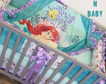 Little Mermaid, Crib Set.